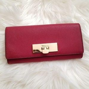 Michael Kors Callie Carryall Wallet Cherry Red